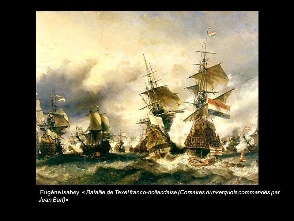 Ludolf Backhuisen « Bataille de Texel franco-hollandaise (Corsaires dunkerquois commandés par Jean Bart)»