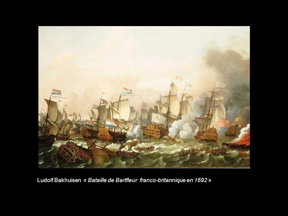 Eugène Isabey « Bataille de Texel franco-hollandaise (Corsaires dunkerquois commandés par Jean Bart)»