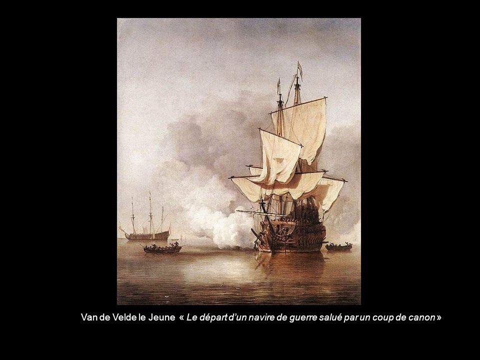Van de Velde le Jeune « Bataille de Texel (détail) »