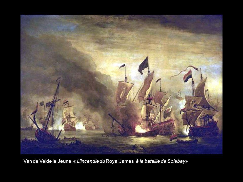 Van de Velde le Jeune « Le départ dun navire de guerre salué par un coup de canon »