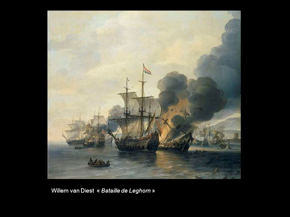 Van de Velde le Jeune « Lincendie du Royal James à la bataille de Solebay»