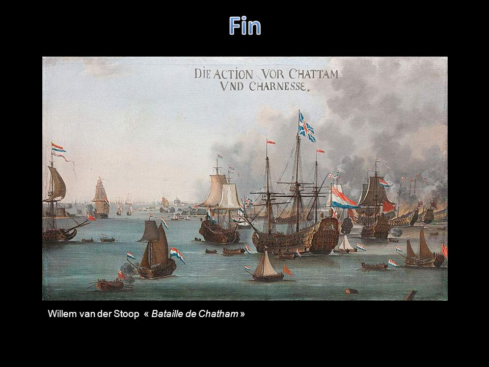 Van de Velde lAncien « La capture du Prince Royal à la batailles des quatre jours en 1666 »