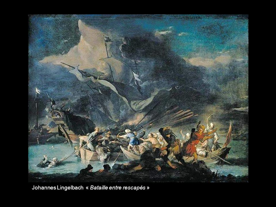 Ludolf Bakhuisen « Bataille de Bartfleur franco-britannique en 1692 »