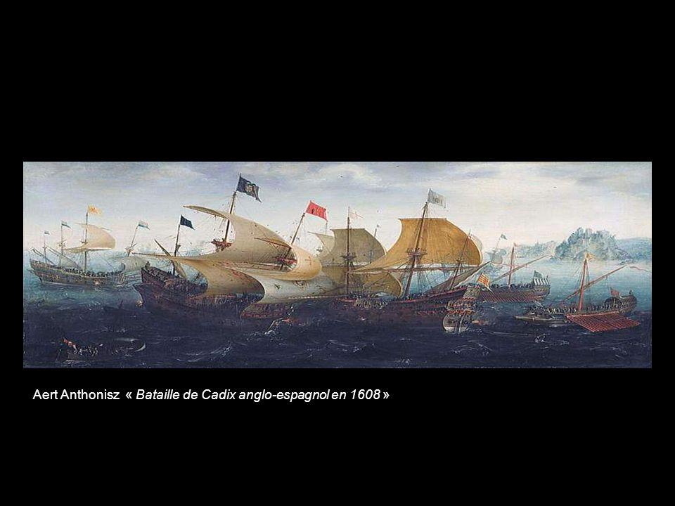 Willem van de Velde lAncien « Bataille de Texel »
