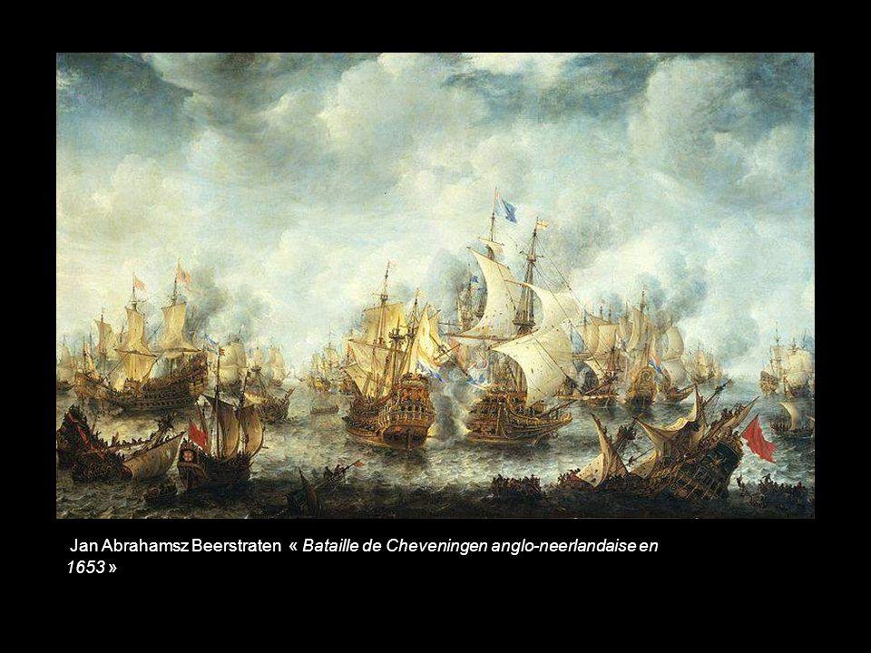 Peter van de Velde « Incendie de la flotte anglaise au large de Chatham en 1667»