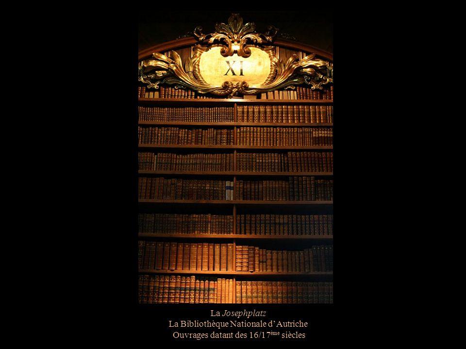 La Josephplatz La Bibliothèque Nationale dAutriche La statue de Charles VI