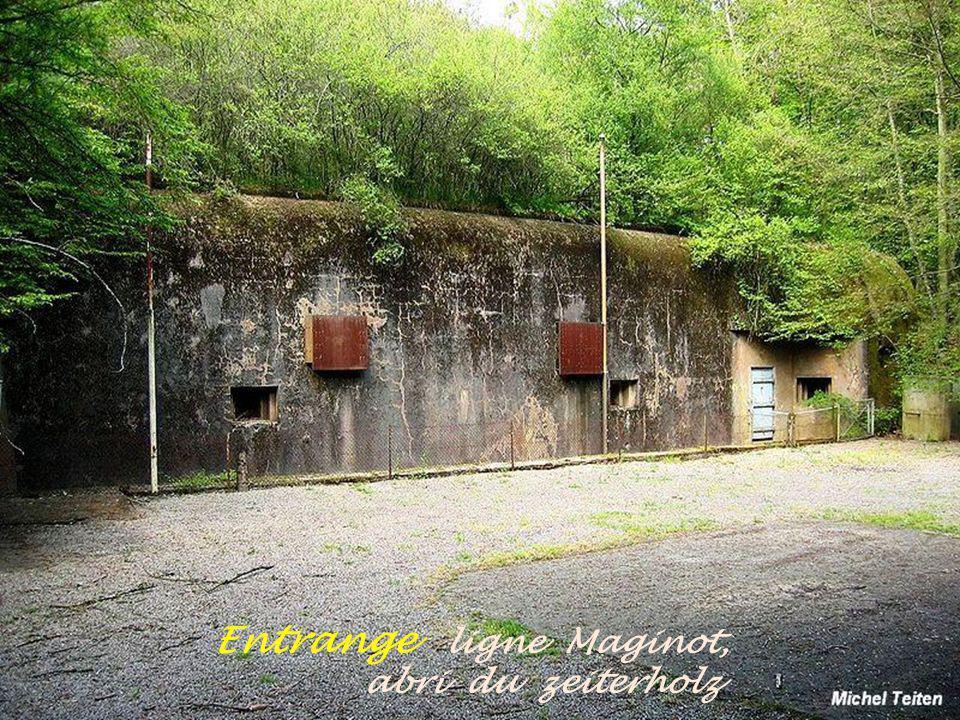 Cattenom La ligne Maginot, gros ouvrages Kobenbusch, entrée des munitions Le pont sur la Moselle