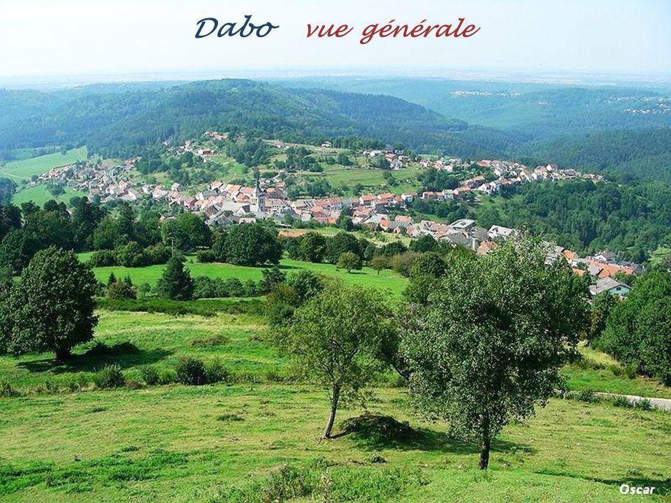 Saint-Quirin panorama sur le village, Et léglise de 1722