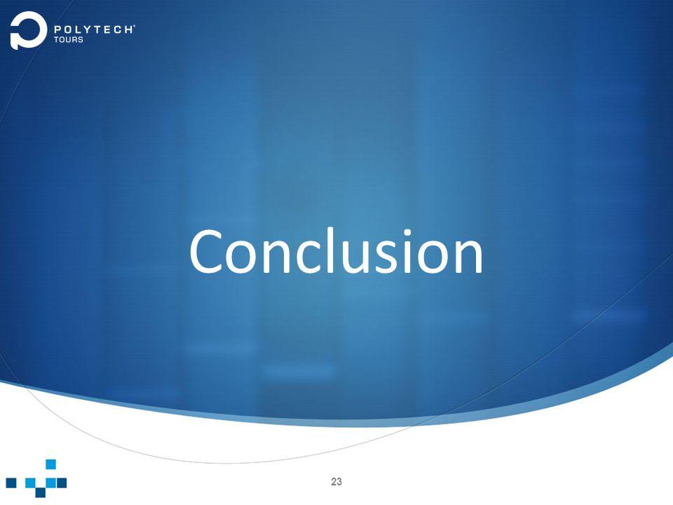 Conclusion 23