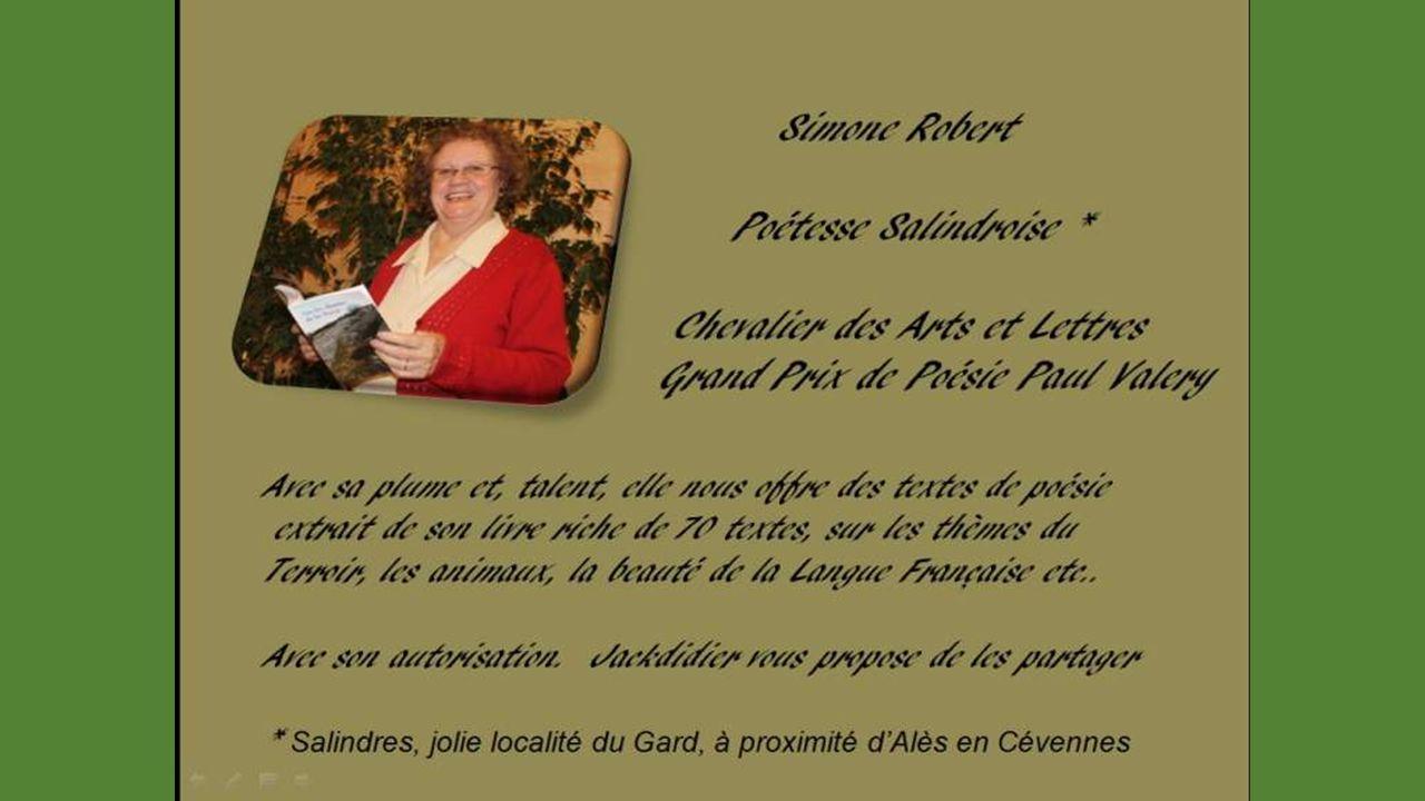 Savoir que lon existe Texte de Simone Robert proposé par Jackdidier
