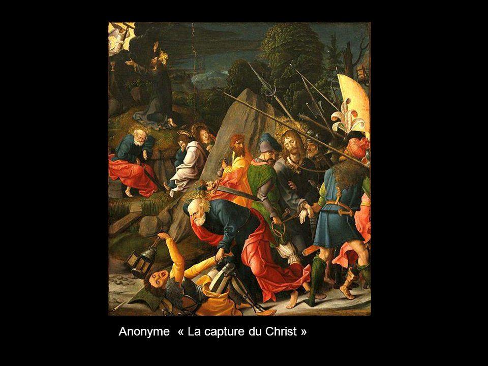 Ecole de Fontainebleau « Le Christ crucifié, Marie et Saint Jean »