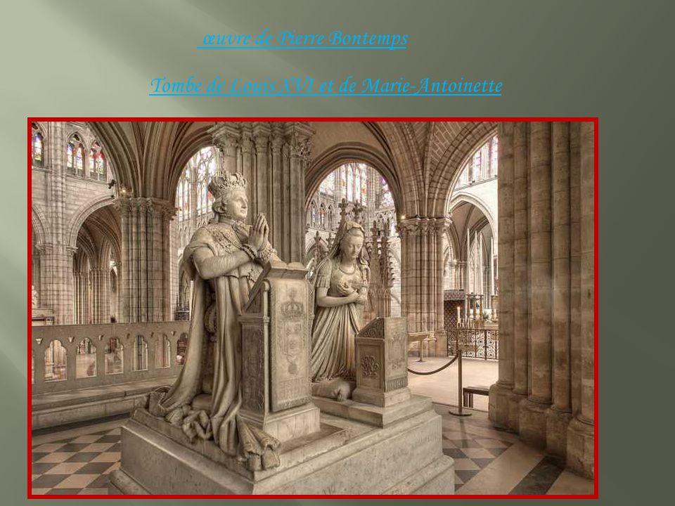œuvre de Pierre Bontemps Tombe de Louis XVI et de Marie-Antoinette