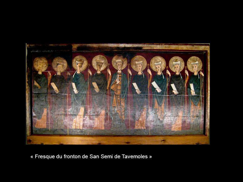 « Fresque devant lautel de San Miquel de Soriguerola »