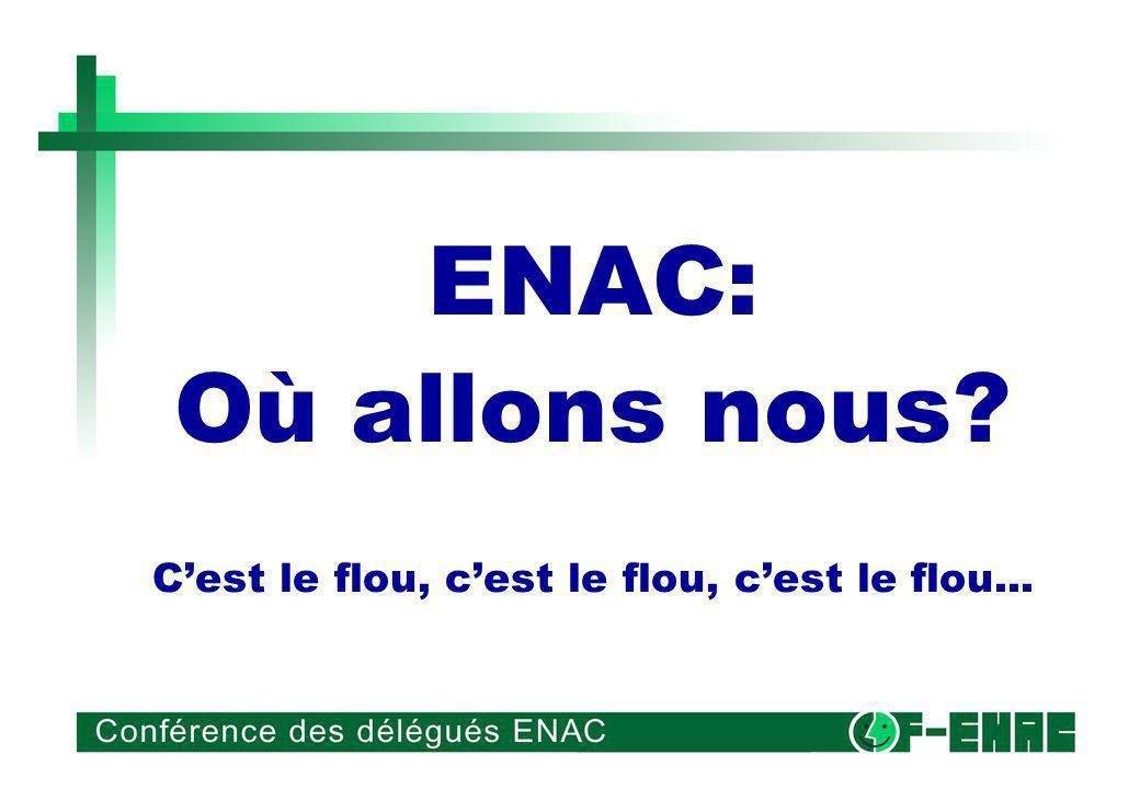 ENAC: Où allons nous? Cest le flou, cest le flou, cest le flou...