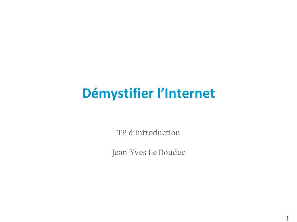 Démystifier lInternet TP dIntroduction Jean-Yves Le Boudec 1