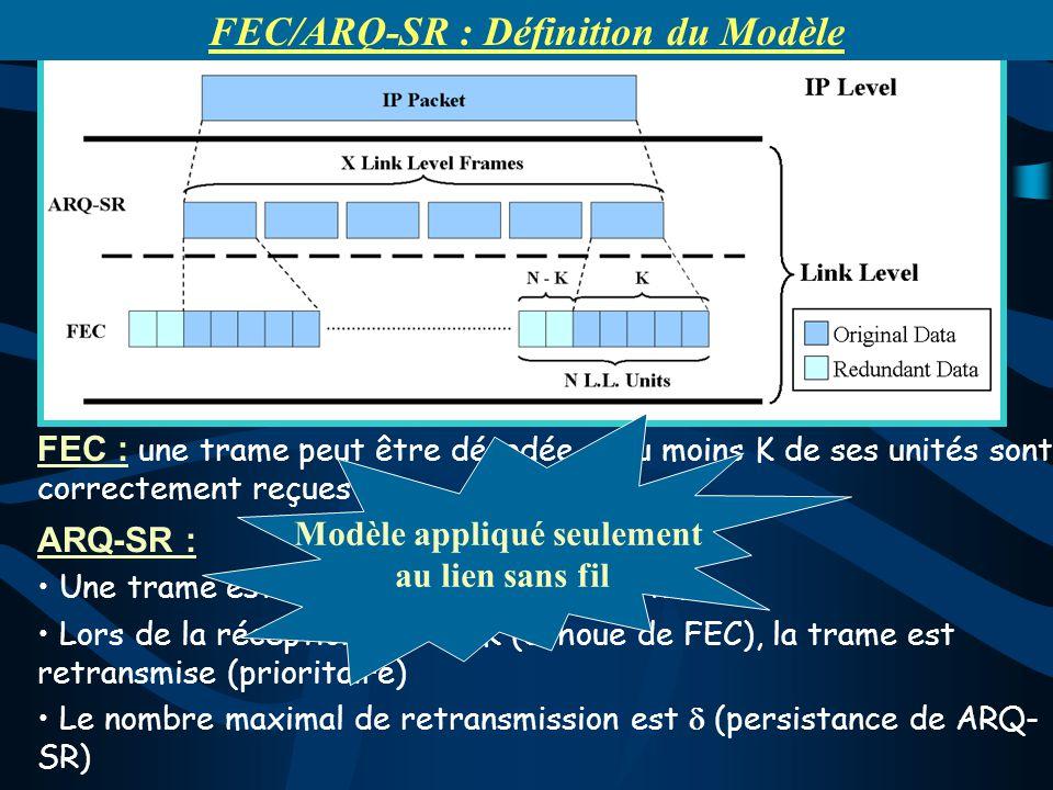 FEC : une trame peut être décodée si au moins K de ses unités sont correctement reçues ARQ-SR : Une trame est acquittée par ACK ou NACK. Lors de la ré
