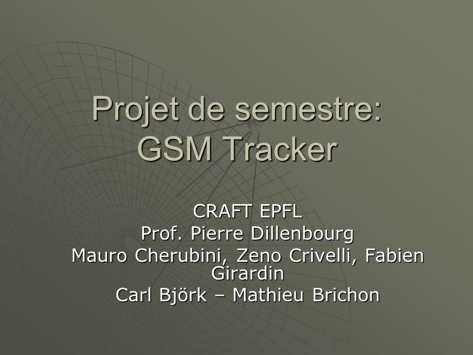 Projet de semestre: GSM Tracker CRAFT EPFL Prof.