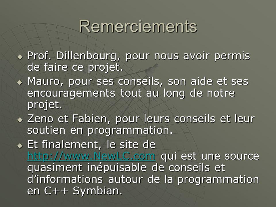 Remerciements Prof. Dillenbourg, pour nous avoir permis de faire ce projet.