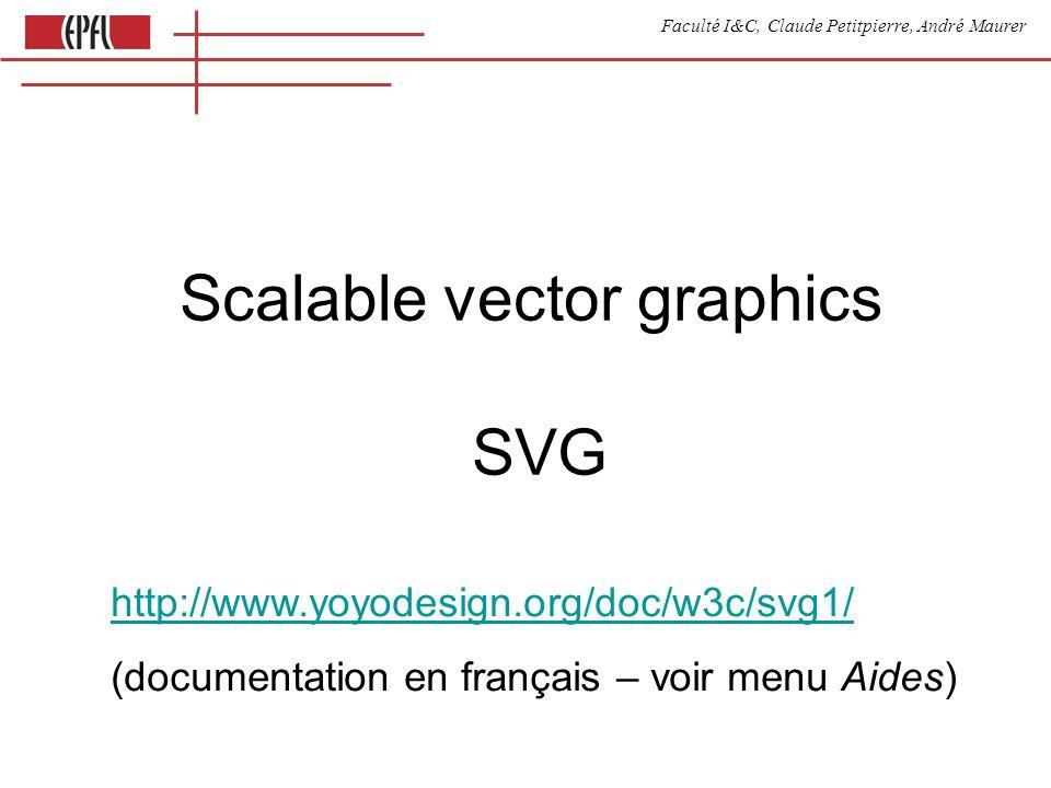 Faculté I&C, Claude Petitpierre, André Maurer Page SVG Eléments SVG