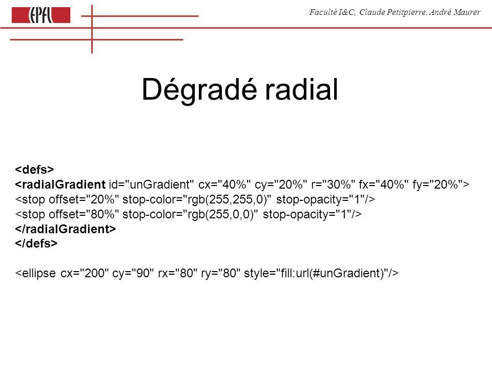 Faculté I&C, Claude Petitpierre, André Maurer Dégradé radial