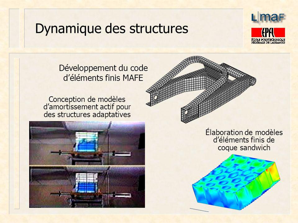 Dynamique des structures Conception de modèles damortissement actif pour des structures adaptatives Développement du code déléments finis MAFE Élabora