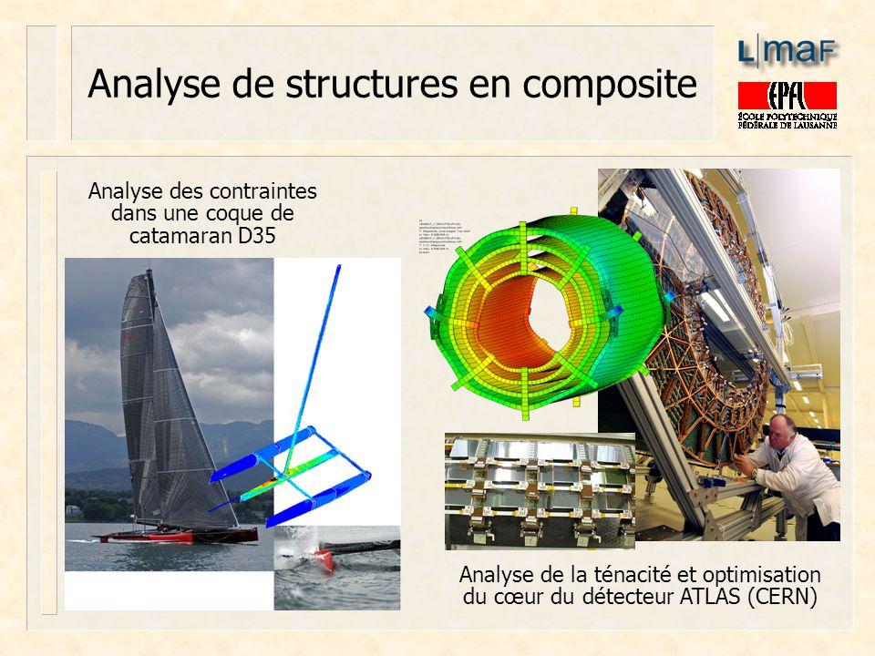 Analyse de structures en composite Analyse des contraintes dans une coque de catamaran D35 Analyse de la ténacité et optimisation du cœur du détecteur