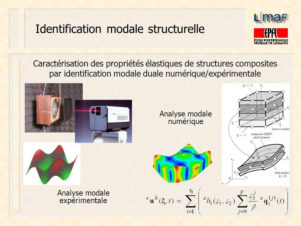Identification modale structurelle Caractérisation des propriétés élastiques de structures composites par identification modale duale numérique/expéri