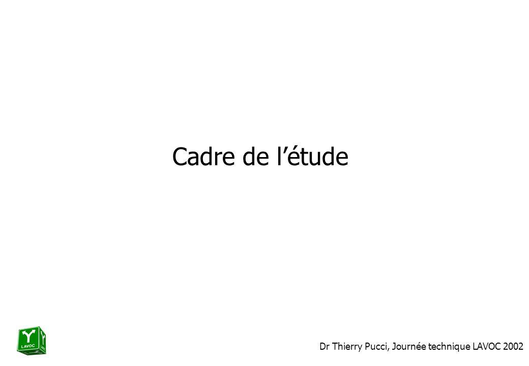 Dr Thierry Pucci, Journée technique LAVOC 2002 Cadre de létude