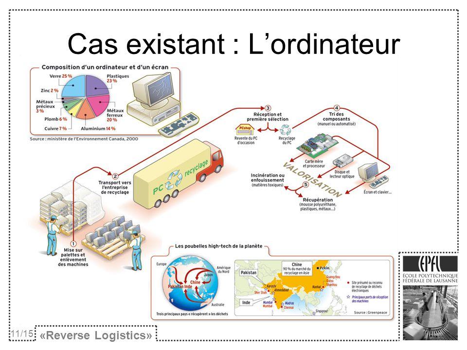 Cas existant : Lordinateur «Reverse Logistics» 11/15