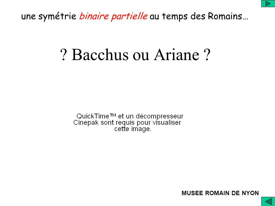MUSEE ROMAIN DE NYON ? Bacchus ou Ariane ? une symétrie binaire partielle au temps des Romains…