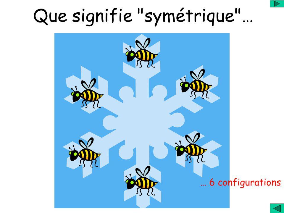 Que signifie symétrique … … 6 configurations