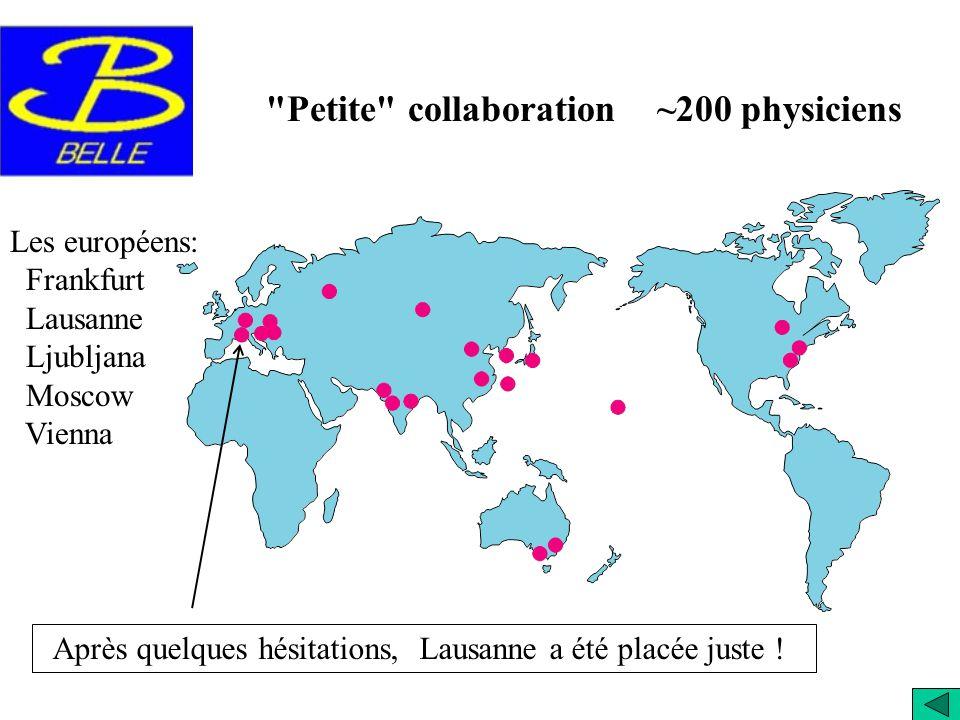 En 2001 les expériences BaBar et Belle ont annoncé la découverte de la violation de CP dans les mésons B neutres. Belle au Japon BaBar au USA