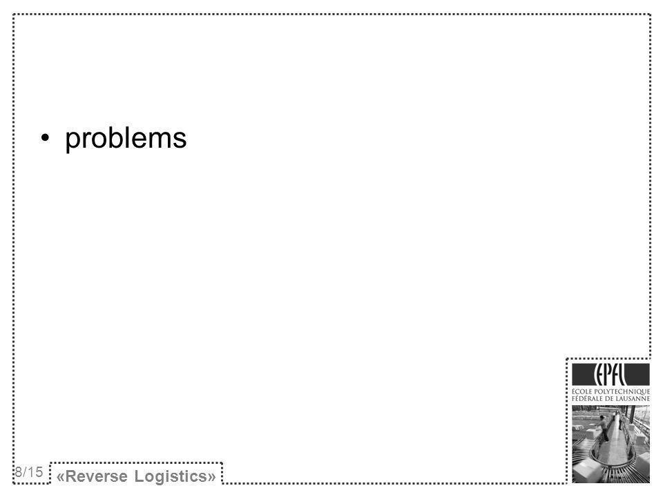 problems «Reverse Logistics» 8/15