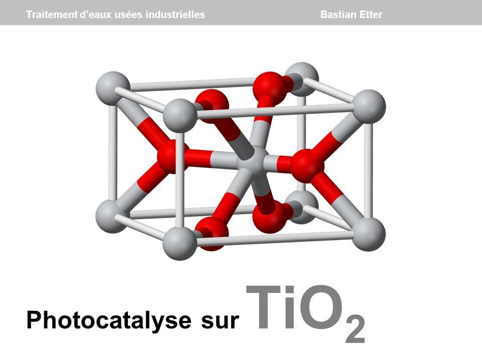 TiO 2 traitement deaux usées industrielles : photocatalyse sur TiO 2 Photocatalyse sur TiO 2 Traitement deaux usées industrielles Bastian Etter