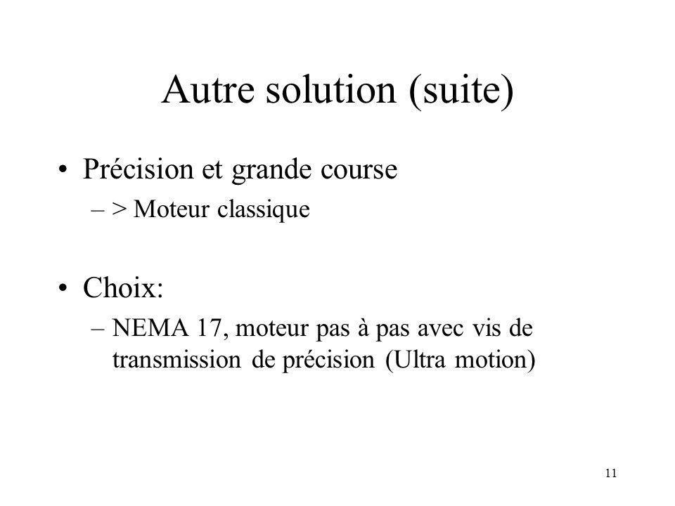 10 Le piézo: actuateur idéal? Non –> Course limitée … (typiquement <30 um)
