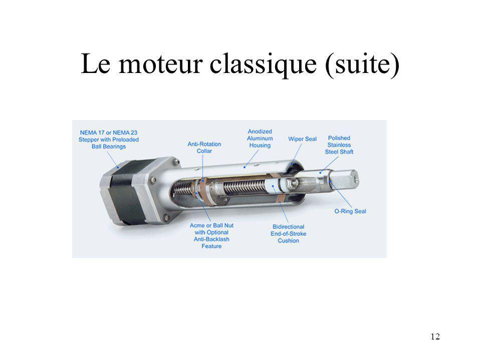 11 Autre solution (suite) Précision et grande course –> Moteur classique Choix: –NEMA 17, moteur pas à pas avec vis de transmission de précision (Ultr