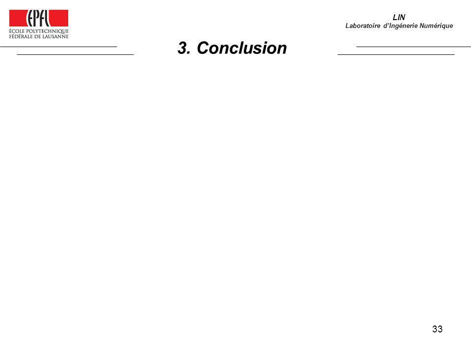 33 3. Conclusion LIN Laboratoire dIngénerie Numérique
