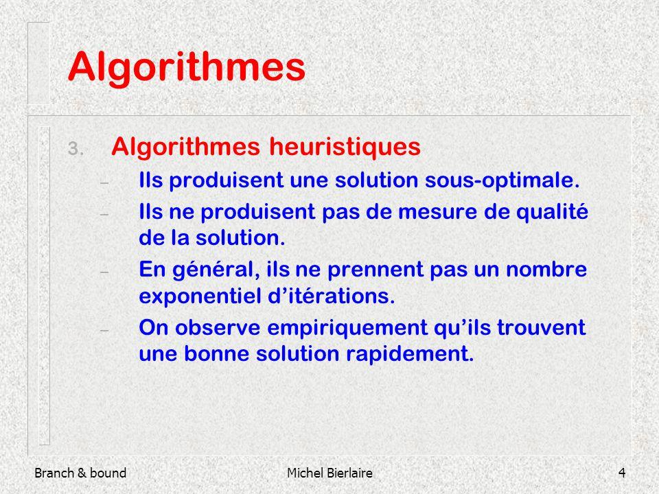 Branch & boundMichel Bierlaire4 Algorithmes 3.