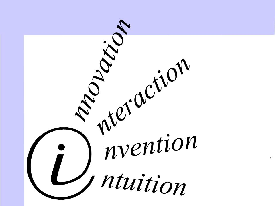 ntuition nvention nteraction nnovation