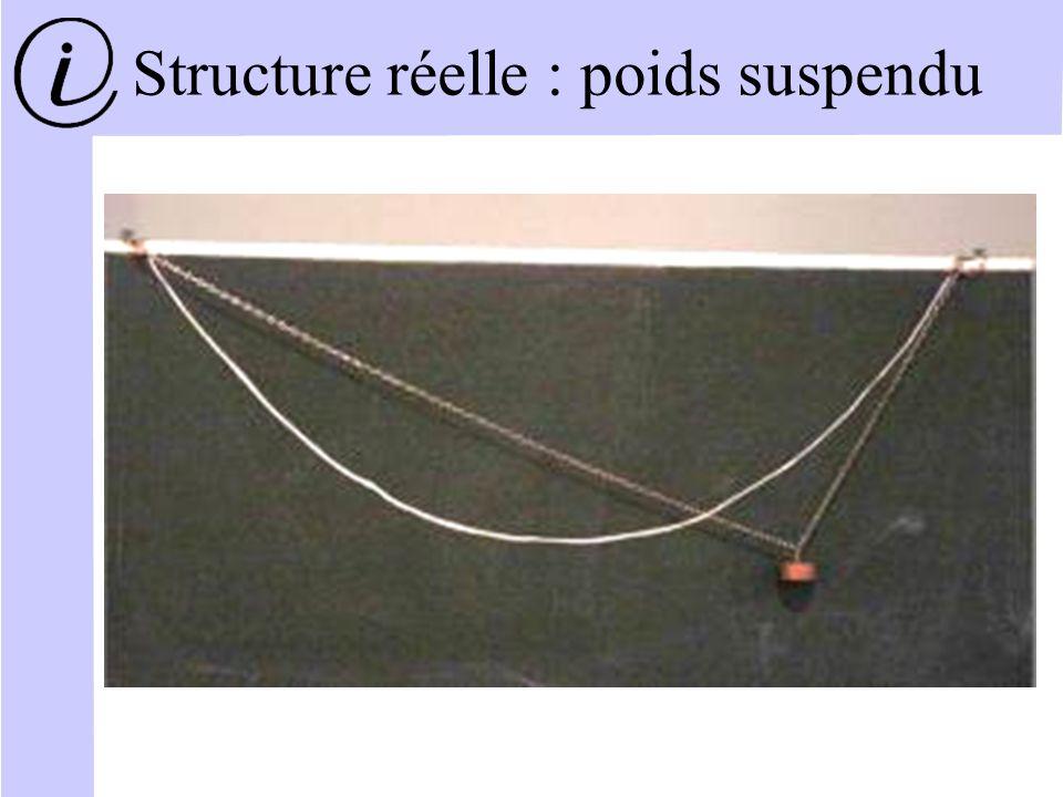 Structure réelle : poids suspendu