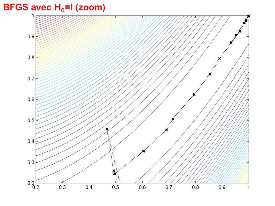 BFGS avec H 0 =I (zoom)