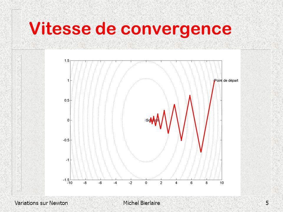 Variations sur NewtonMichel Bierlaire5 Vitesse de convergence