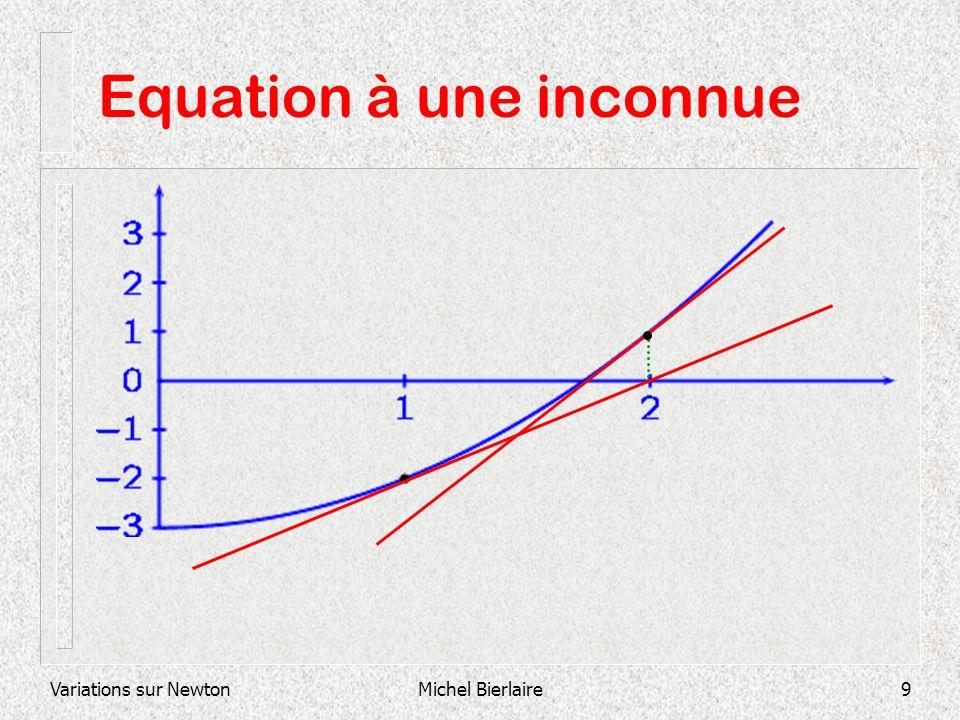 Variations sur NewtonMichel Bierlaire9 Equation à une inconnue