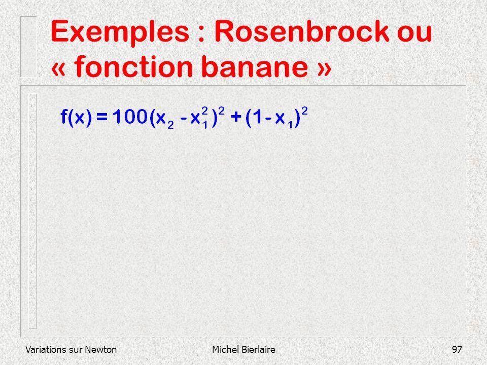 Variations sur NewtonMichel Bierlaire97 Exemples : Rosenbrock ou « fonction banane »