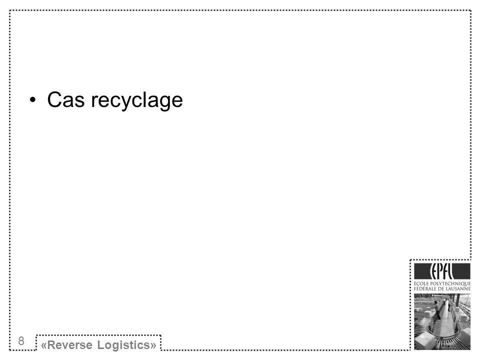 Cas recyclage «Reverse Logistics» 8