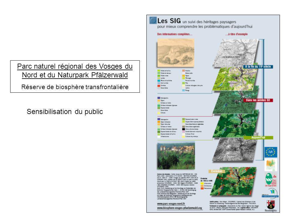 Parc naturel régional des Vosges du Nord et du Naturpark Pfälzerwald Réserve de biosphère transfrontalière Sensibilisation du public