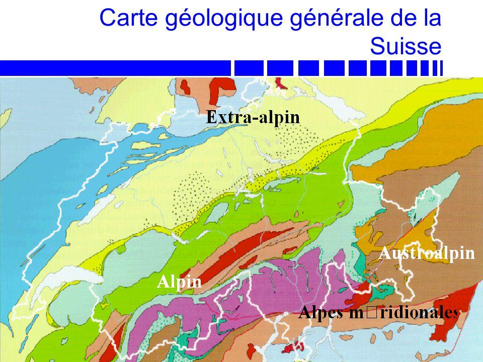 LAVOC - EPFL Prof. A.-G. Dumont Carte géologique générale de la Suisse