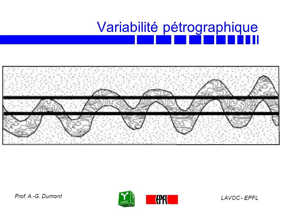 LAVOC - EPFL Prof. A.-G. Dumont Variabilité pétrographique