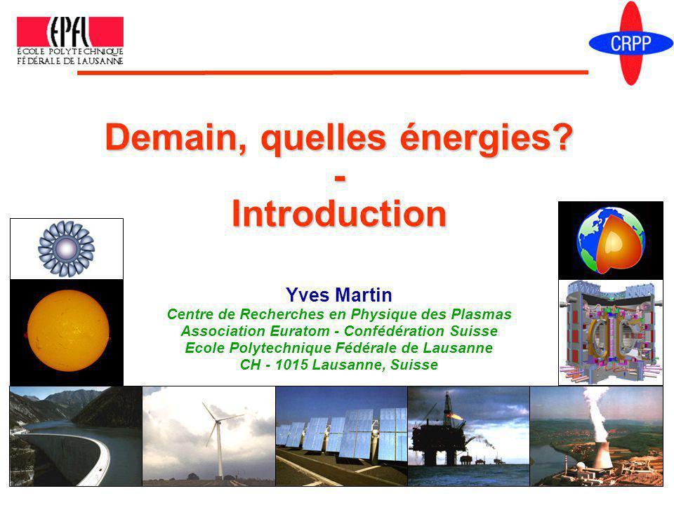 Yves Martin Centre de Recherches en Physique des Plasmas Association Euratom - Confédération Suisse Ecole Polytechnique Fédérale de Lausanne CH - 1015