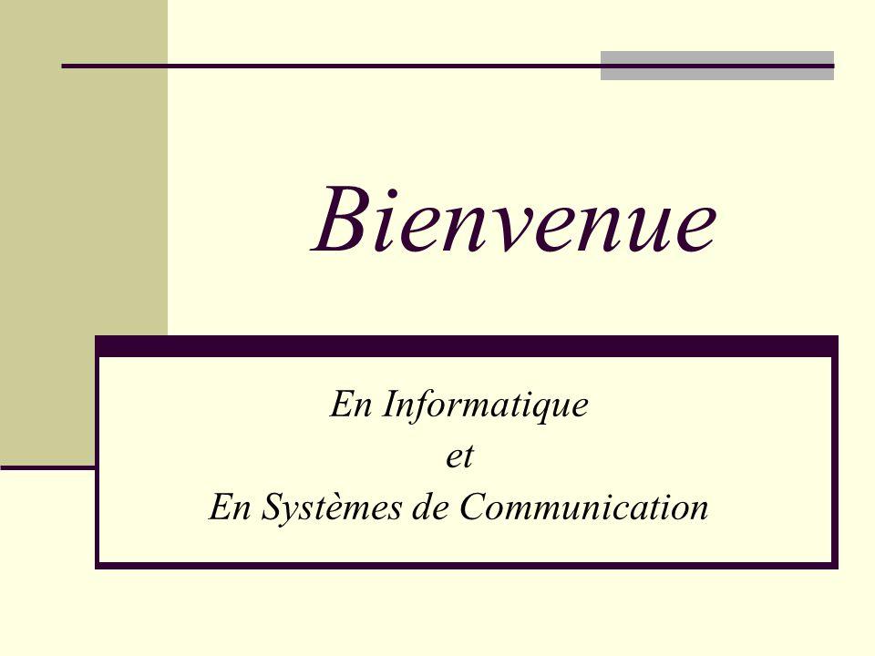 Les Sections : Informatique (SIN) Systèmes de Communication (SSC) Bâtiment IN (INN 112) Ouverture du secrétariat SIN/SSC : 10h – 12h VOS CONTACTS Mme Cecila BiglerINN 112 10h.-12h.